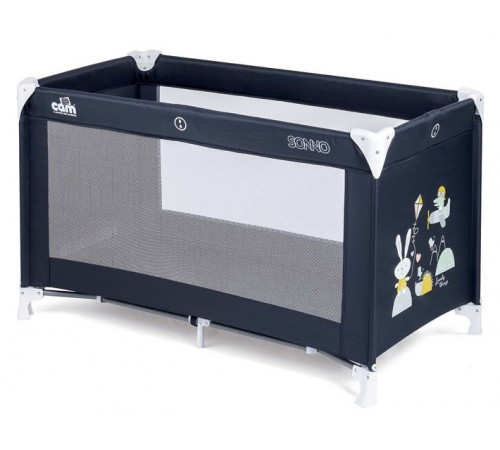 cam Кровать-манеж l117 sonno тёмно-синий