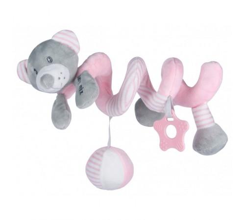 """baby mix stk-19391 pb Спираль для коляски """"Мишка"""" розовый"""