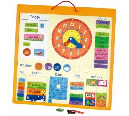 """3toysm k1 50377 panoul din lemn """"calendarul magnetic"""" (în engleză)"""