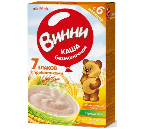 Детское питание в Молдове Винни Каша безмолочная 7 злаков с пребиотиками (6м +) 200 гр.