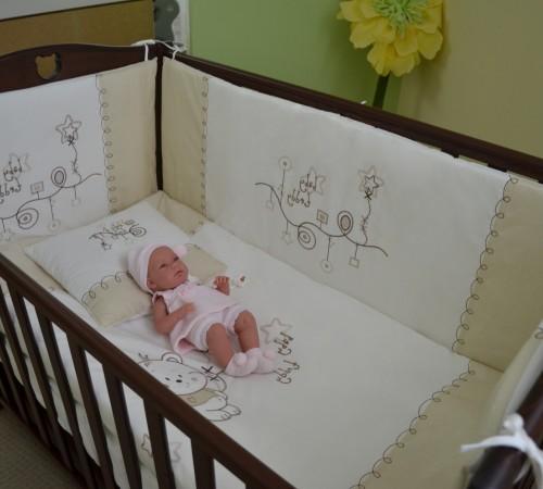 Mobila pentru camera copiilor de vanzare in Chisinau-Baby-Boom.md  in Moldova show baby lenjerie de pat  my baby teddy bej.