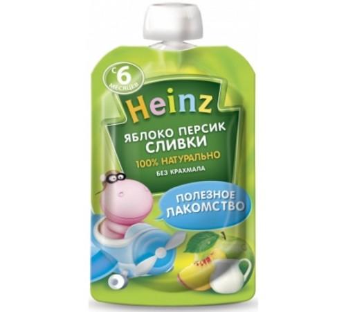 heinz Пюре Яблоко-персик-сливки (6 м +) 90 гр.