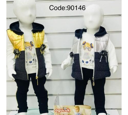 Одежда для малышей в Молдове agucuk & agumini 90146 Костюм для девочки 3 ед.  (6 -24 мес.) в асс.