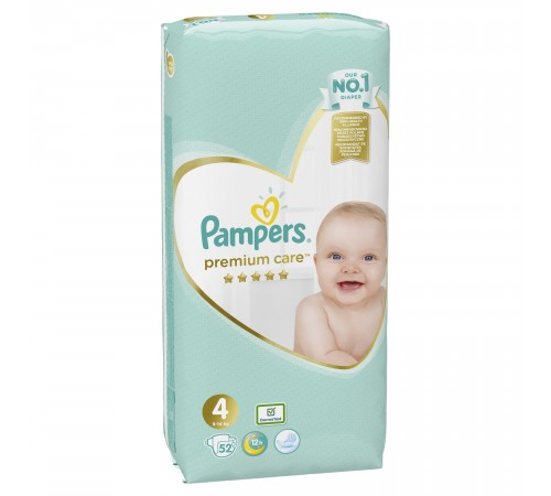 pampers premium care 4 (9-14 kg.) 52 buc.