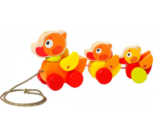 """Детскиймагазин в Кишиневе в Молдове cubika 13722 Деревянная игрушка-каталка """"Утенок"""""""
