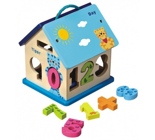 "Jucării pentru Copii - Magazin Online de Jucării ieftine in Chisinau Baby-Boom in Moldova baby mix hj-d93754 jucarie din lemn ""casuta cu cifre"""