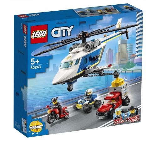 """lego city 60243 Конструктор """"Погоня на полицейском вертолете"""" (212  дет.)"""
