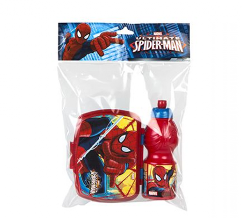 color baby 76814 lunch box+sticluță  spider man