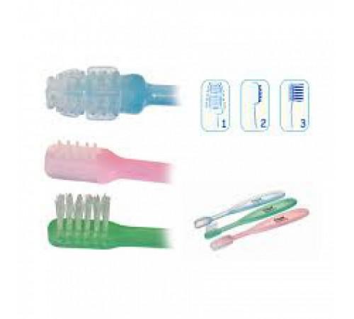 canpol 2/421 set de perii pentru curățarea dinților 3 buc.