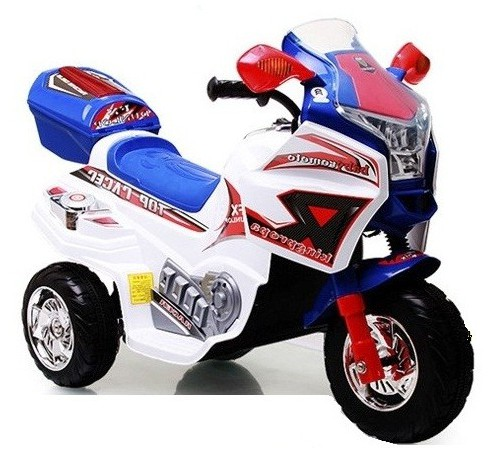 baby mix skc-kb00101 motocicleta pe baterie alb-albastru