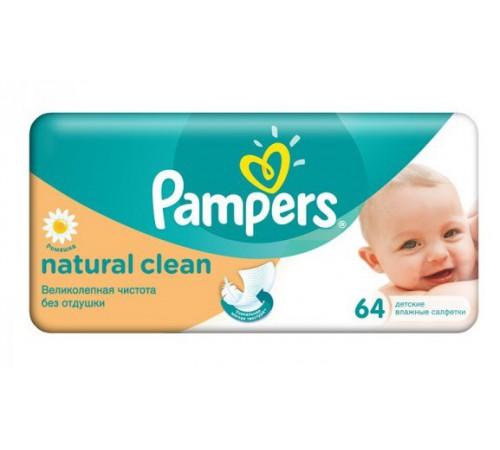 pampers Влажные салфетки natural clean (64 шт.)