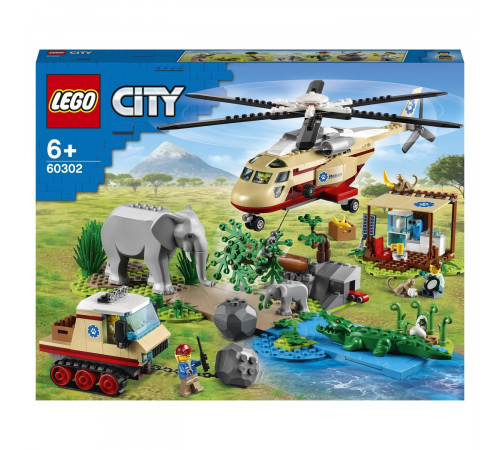 """lego city 60302 Конструктор """"Операция по спасению дикой природы"""" (525 дет.)"""
