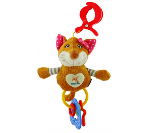 """Детскиймагазин в Кишиневе в Молдове baby mix stk-17745p Игрушка для путешествий """"Лиса"""" розовая"""