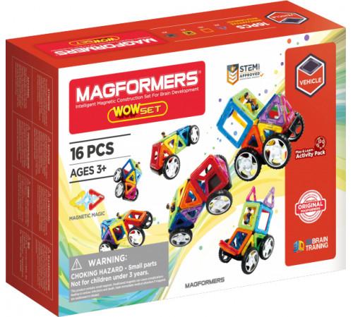 """magformers 707004 Магнитный конструктор """"Удивительный набор"""" (16 эл.)"""