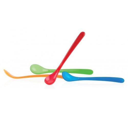 nuby id5565 Набор ложечек с длинной ручкой (4 шт.)