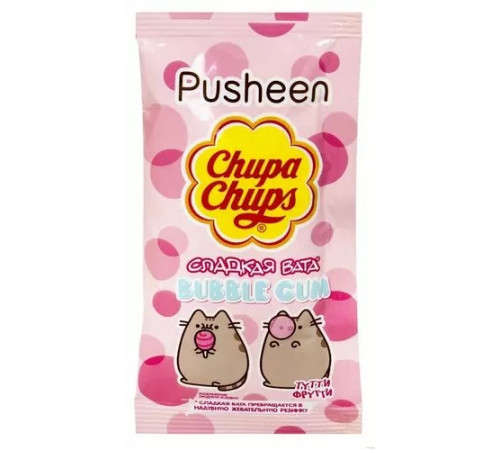 "chupa chups Сладкая вата ""bubble gum"" со вкусом Тутти Фрутти"