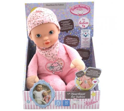 "zapf creation 702543 Кукла baby annabell newborn ""Сердца Стук"" (30 см.)"