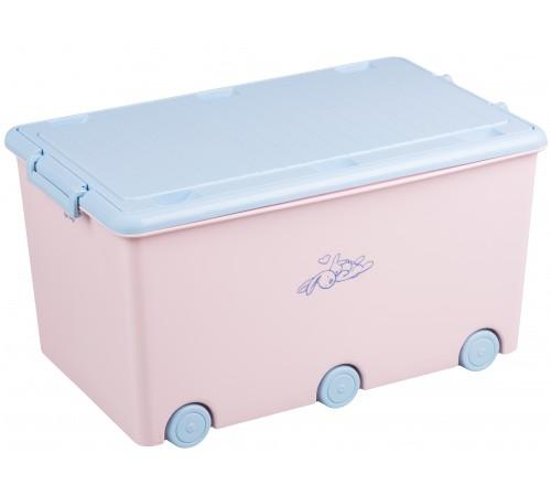 """tega baby Контейнер для игрушек """"Кролики"""" kr-010-104 розовый"""