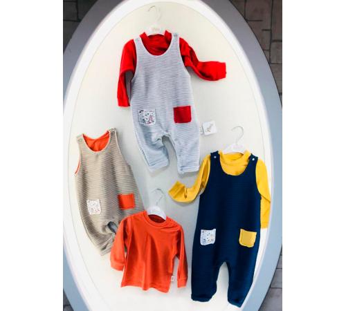 Одежда для малышей в Молдове flexi 217361 Костюм для мальчика 2 ед. (р.56-62-68) в асс.