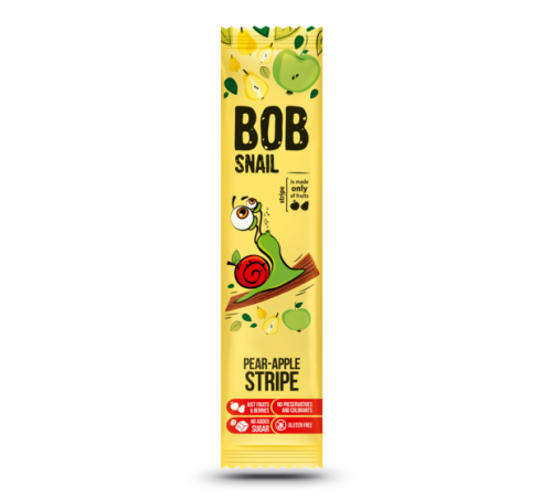 """bob snail bomboane naturale """"mere-pere"""" (14 gr.)"""