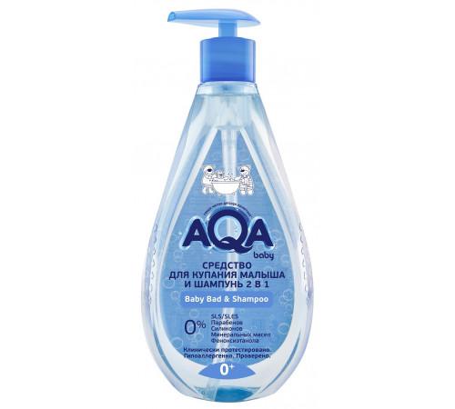 80.38 aqa baby lotiune de baie pentru copii și șampon 2in1 (250 ml.)