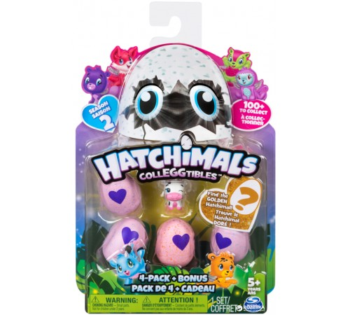 "hatchimals 6041338 set ""colleggtibles"" 4 ouă cu figure (+ figura bonus in sort.)"
