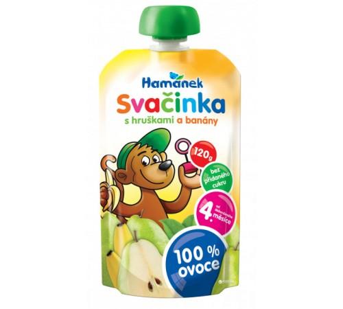 """Детское питание в Молдове hame пюре """"Хаманек"""" с грушей и бананом 120г"""