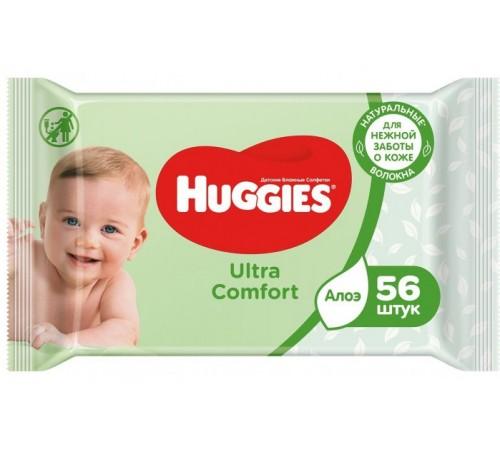 huggies Влажные Салфетки ultra comfort c Алоэ (56 шт.)