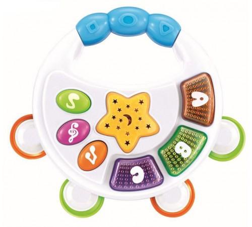 Jucării pentru Copii - Magazin Online de Jucării ieftine in Chisinau Baby-Boom in Moldova baby mix pl-430132 tamburină muzical albastru
