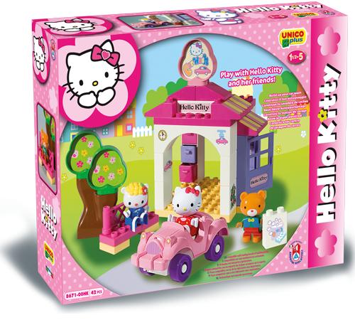 Детскиймагазин в Кишиневе в Молдове androni giocattoli 8671-00hk Конструктор Автомойка hello kitty (42эл)