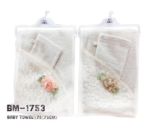 twetoon baby bm-1753 Полотенце с варежкой в асс.