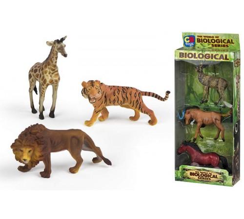 color baby 42676 setul cu animalele salbatice (3fig) in sort.cifre din marca color baby - copii detaliate ale animalelor africane. cifrele transmit cu exactitate trăsăturile structurii corpului animalului, aspectul pielii, o formă caracteristică.  În preg