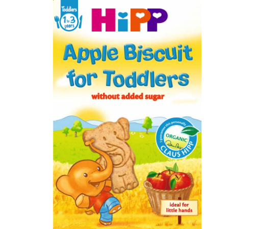 Детское питание в Молдове hipp 3559 Печенье для детей с яблоком Хипп 150г