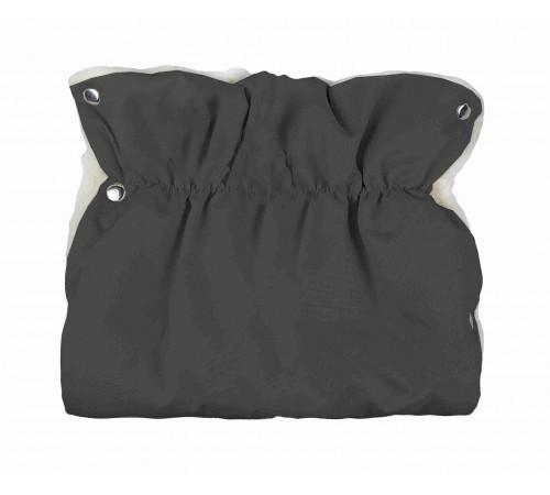 womar Рукавички для коляски шерстяные слитные серые