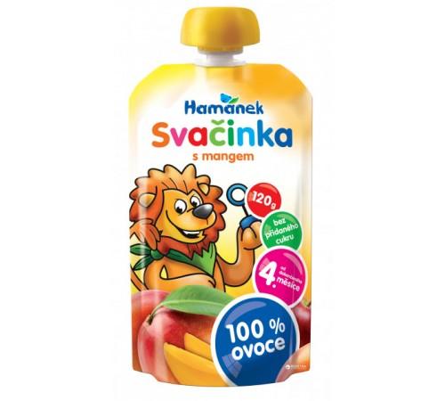 """Детское питание в Молдове hame Пюре """"hamanek"""" Яблоко-Манго (4 м+) 120 гр."""