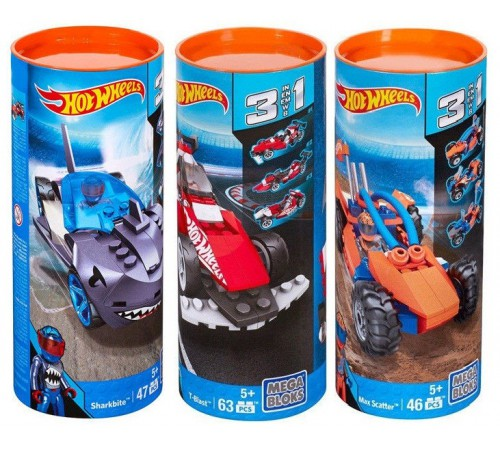 "hot wheels cnf38 Конструктор ""Построй тачку"" mega bloks в асc. (3)"