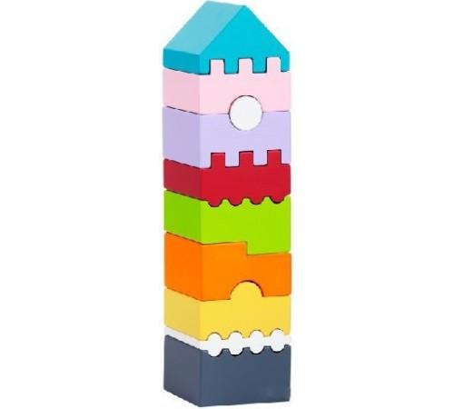 """cubika 11308 Деревянная пирамидка """"Башня""""  ld-1"""