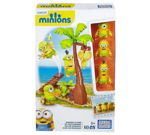 """Детскиймагазин в Кишиневе в Молдове mega bloks  cnn55 Конструктор Миньены """"Банановый остров"""""""