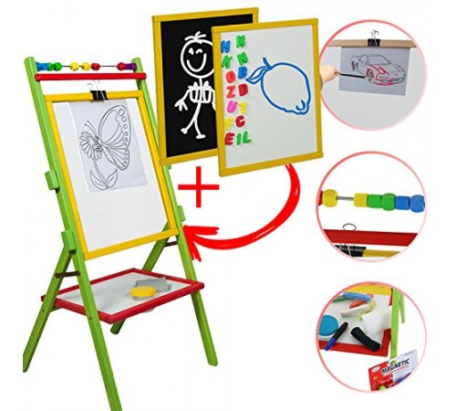 Детскиймагазин в Кишиневе в Молдове 3toysm ops3 Доска для рисования двухсторонняя+прозрачная