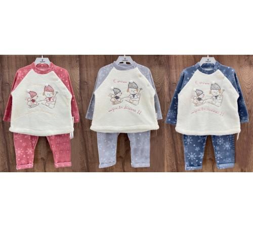 Одежда для малышей в Молдове twetoon 119015 Костюм флисовый (6-12-18-24 мес.) в асс.