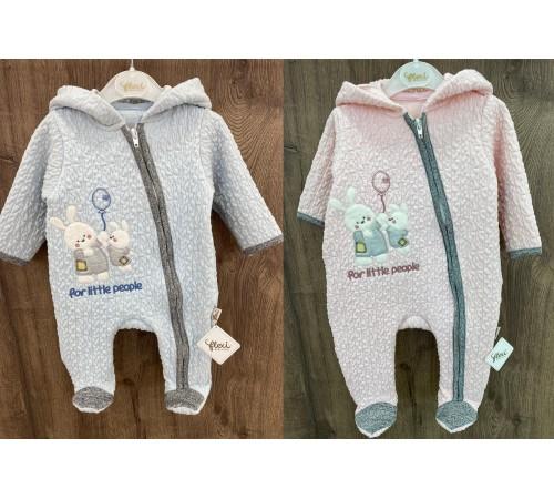 Одежда для малышей в Молдове flexi 213775 Комбинезон  утепленный жатка (р. 56-62-68) в асс.