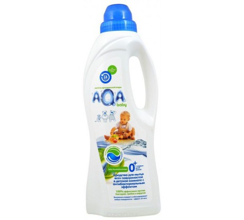 81.04 aqa baby Средство для мытья поверхностей в детской комнате (1 л.)