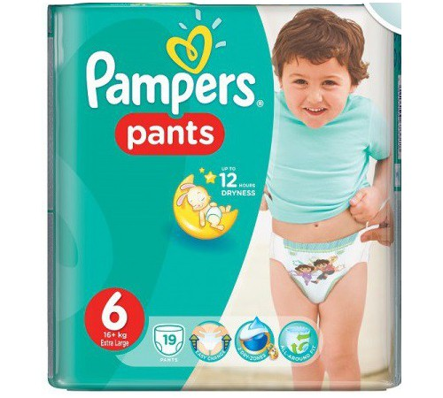 pampers pants 6 (16+ kg.) 19 buc.
