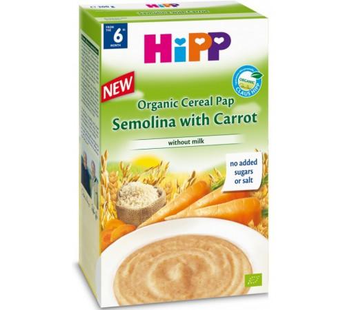 hipp 2896 organic fără lapte griu, orez cu morcov 200 gr. (6m+)