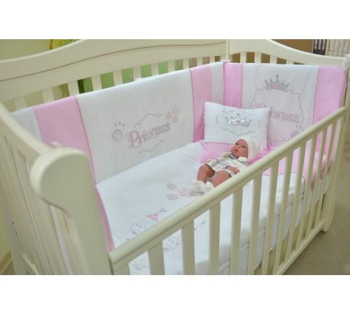 Mobila pentru camera copiilor de vanzare in Chisinau-Baby-Boom.md  in Moldova show baby lenjerie de pat (roz)