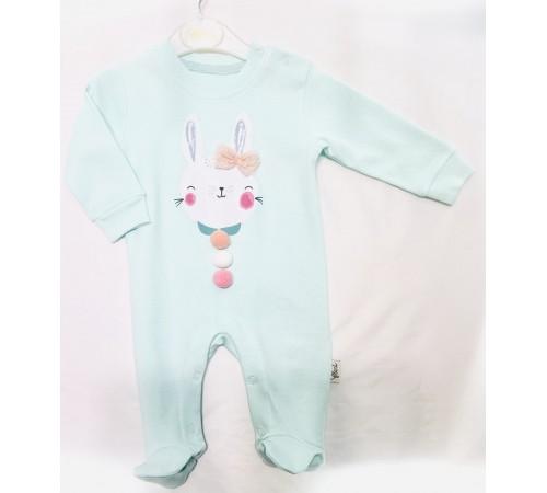 """Одежда для малышей в Молдове flexi 213595 Комбинезон """"Зайка"""" в асc. (розовый/мятный) 0-12 мес."""