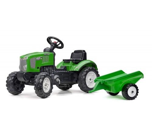 falk 2069j Трактор с педалями и прицепом зелёный