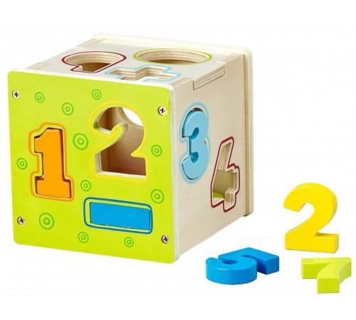 """Детскиймагазин в Кишиневе в Молдове baby mix hj-d93131 Игрушка деревянная """"Куб-цифры"""""""