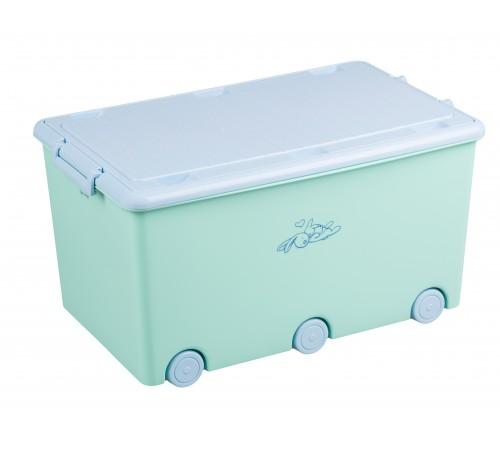 """tega baby Ящик для игрушек """"Кролики"""" kr-010-105 зеленый"""