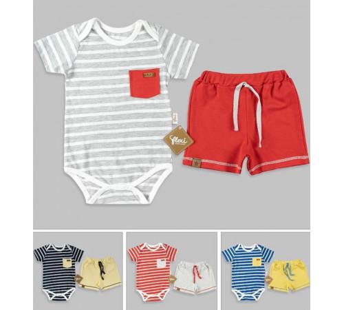 Одежда для малышей в Молдове flexi 216144 Костюм 2 единицы (62-68-74-80 см.) в асс.